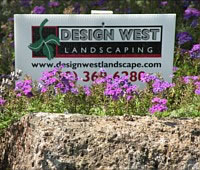 Design West Landscaping Sign