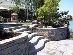 Retaining walls stone walls stockton lodi dublin ca for Landscaping rocks stockton ca