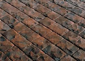 Stamped Concrete Cobble Pattern